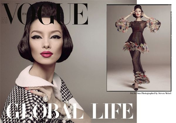 Piękna Fei Fei Sun w Chanel