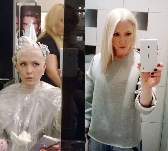 Sara Ferreira została platynową blondynką