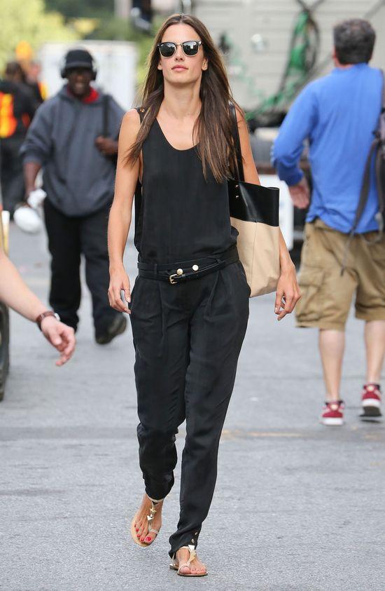 Modna Alessandra Ambrosio na New York Fashion Week