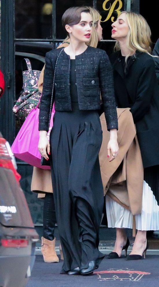 Lily Collins obcięła włosy na chłopaka! (FOTO)
