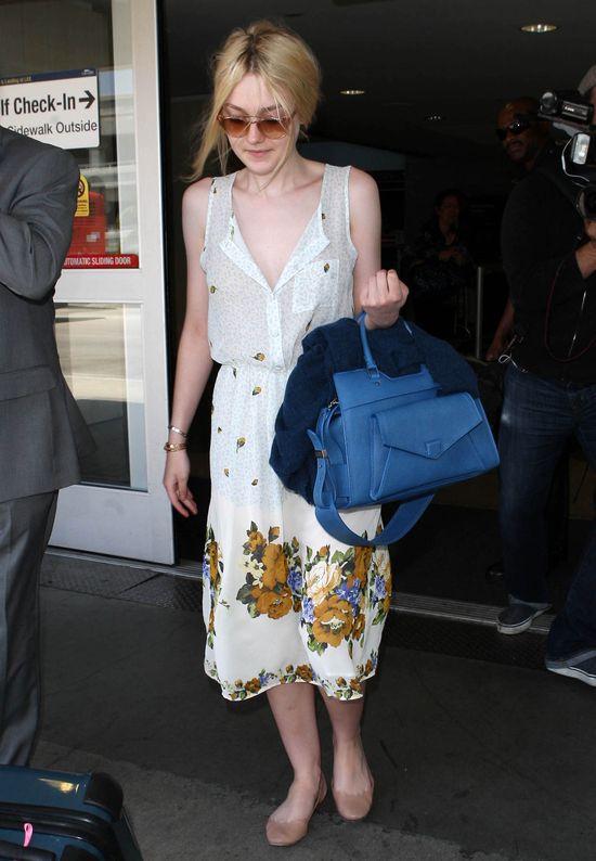 Dakota Fanning w sukience z Topshopu (FOTO)