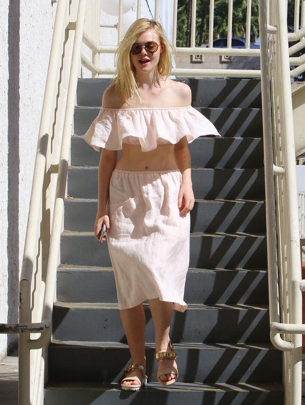 Elle Fanning o mały włos od wielkiej wpadki? (FOTO)