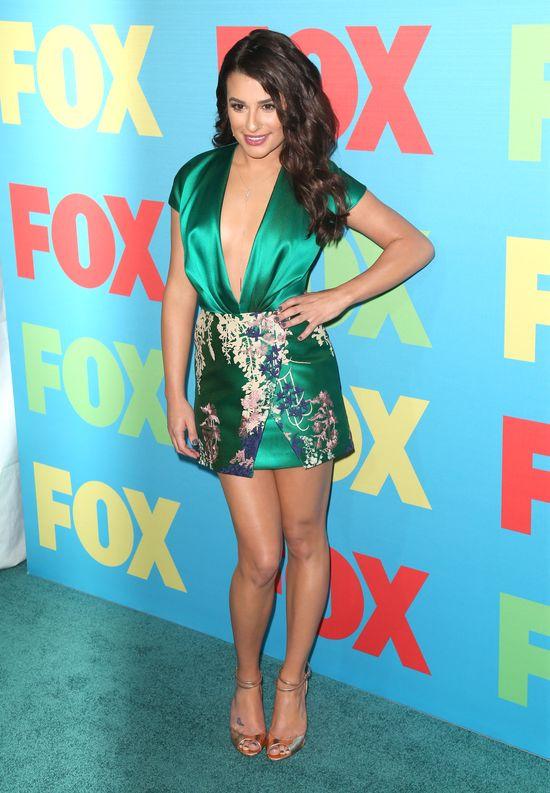 Lea Michele przesadziła z długością mini? (FOTO)