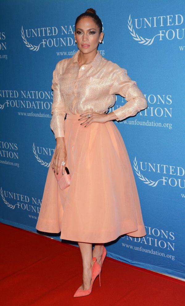 Jennifer Lopez trochę poniosło? Wyglądała jak ciotka klotka