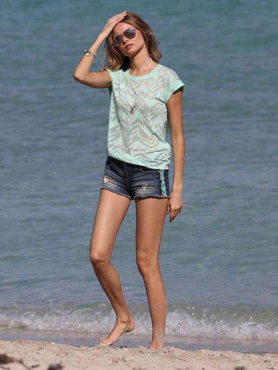 Magda Frąckowiak za kulisami sesji dla Victoria's Secret