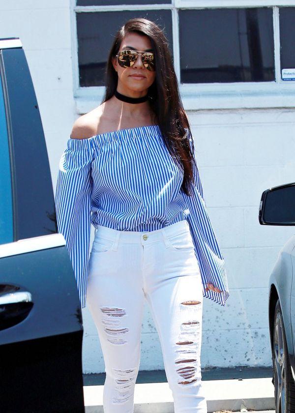 Chcesz się modnie ubrać? Zobacz tylko na stylizację Kourtney Kardashian!
