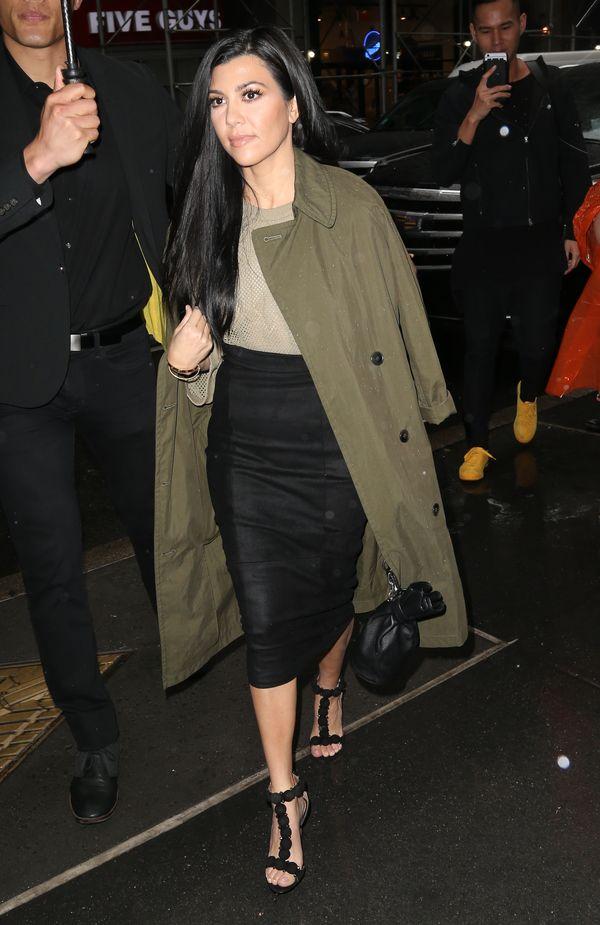 Kourtney Kardashian pożyczyła ubrania od swojej siostry, Kim?
