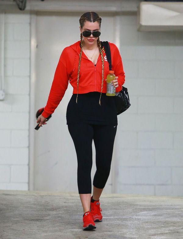 Khloe Kardashian nawet na siłowni nie rezygnuje z doczepów!