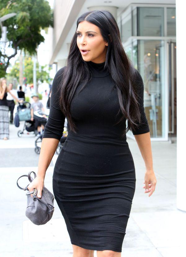 Ciążowy brzuch Kim Kardashian jest coraz bardziej widoczny