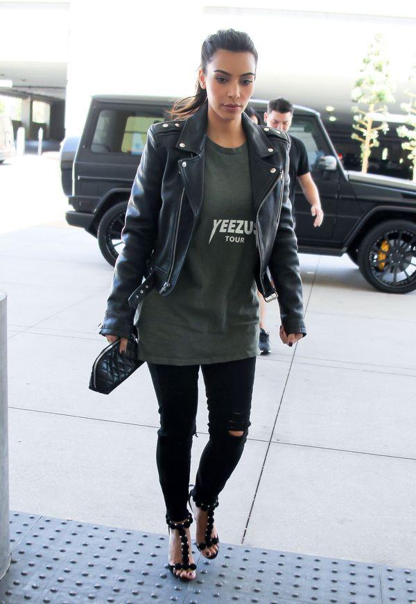 Stylizacja Kim Kardashian z koszulką Kanye w roli głównej!