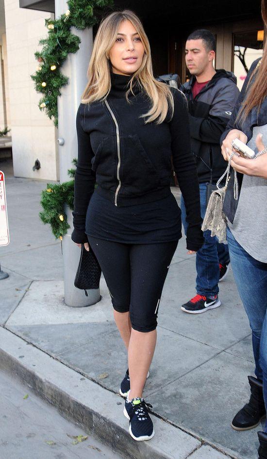 Kim Kardashian przyłapana po treningu (FOTO)