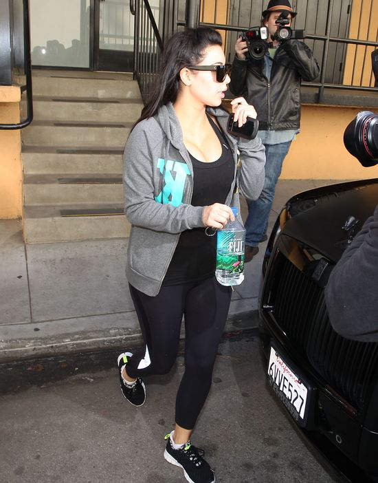 Kim Kardashian nie zamierza przytyć w ciąży (FOTO)