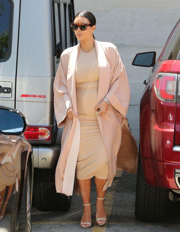 Kim Kardashian ma już naprawdę duży brzuszek! (FOTO)