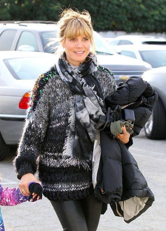 Dwie zimowe stylizacje Heidi Klum (FOTO)
