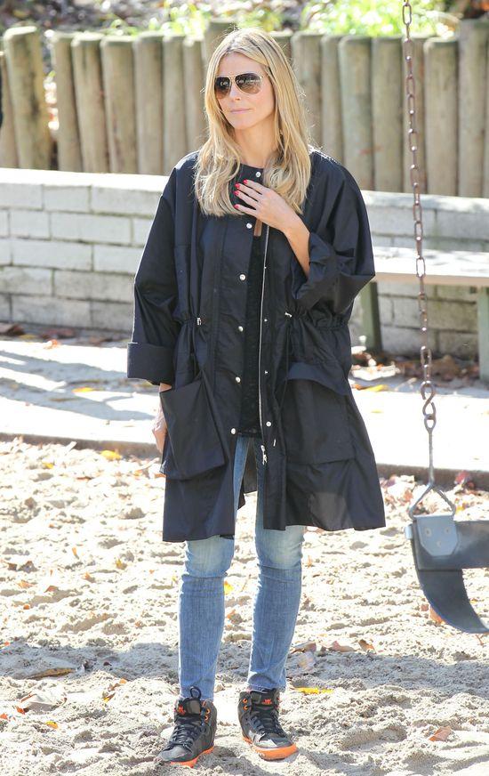 Heidi Klum w oversizowej kurtce (FOTO)