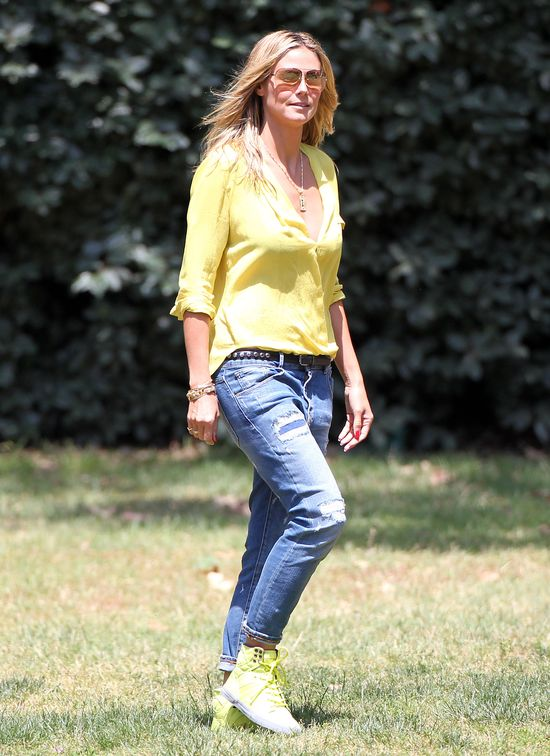 Heidi Klum i Alessandra Ambrosio postawiły na limonkę