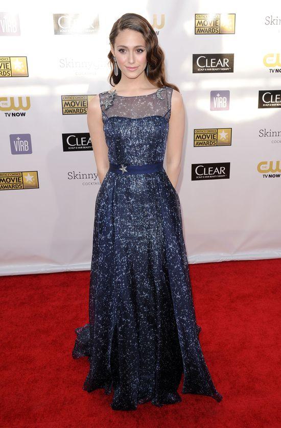Emmy Rossum w bajecznej sukni od Caroliny Herrery