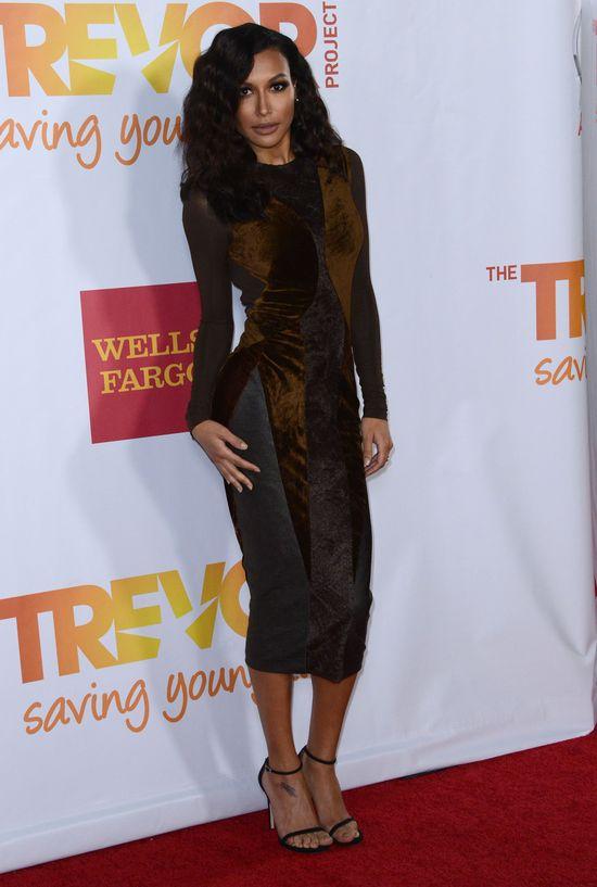 Naya Rivera w sukience z jesiennej kolekcji Donny Karan