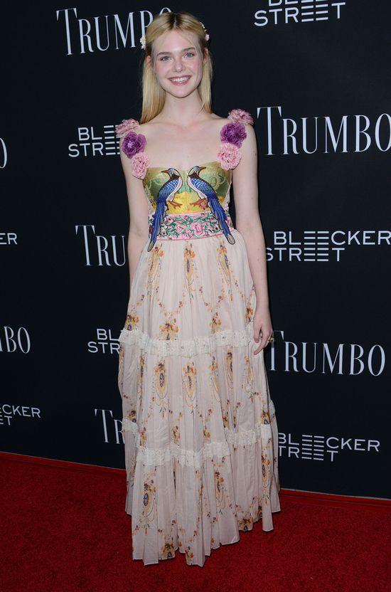 Elle Fanning - księżniczka boho w Gucci (FOTO)