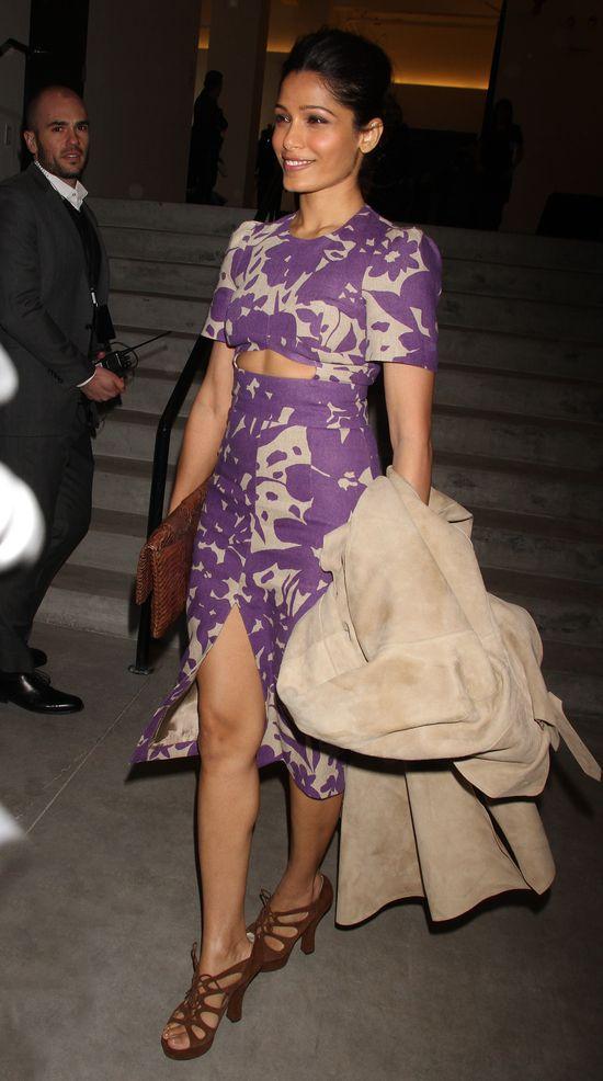 Frieda Pinto w fioletwej kreacji od Michaela Korsa (FOTO)