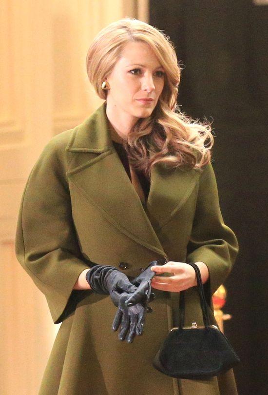 Blake Lively w zielonym płaszczu Gucci (FOTO)