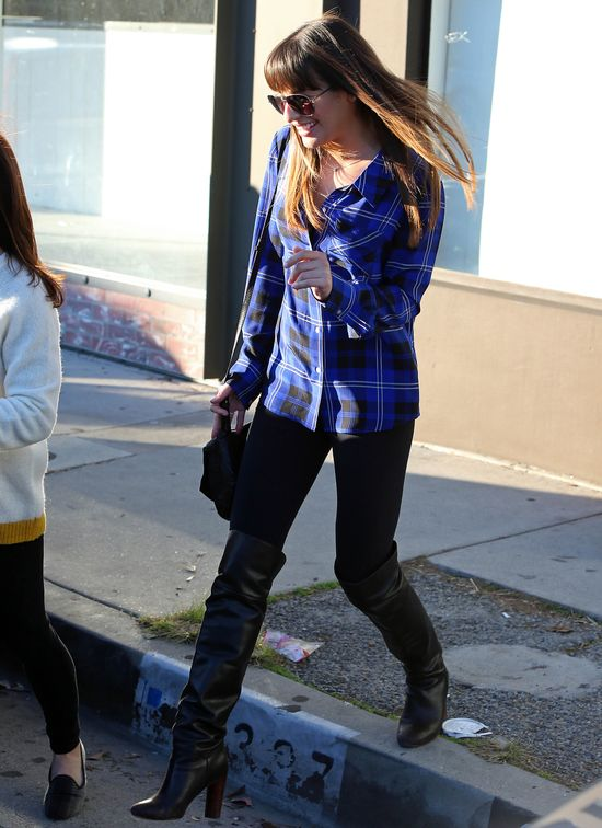 Lea Michele w koszuli w kratę (FOTO)