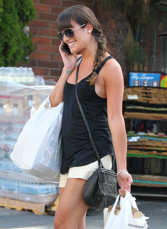 Lea Michele w warkoczu na bok (FOTO)