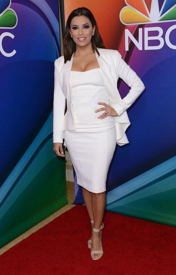 Dopasowana sukienka - Eva Longoria czy Jennifer Lopez?