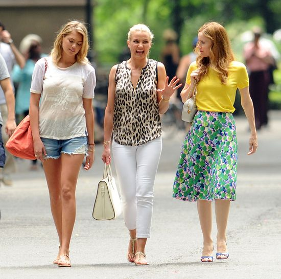 Cameron Diaz, Leslie Mann i Kate Upton - trzy modnisie