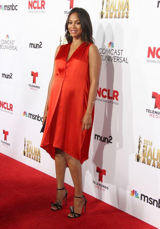 Zoe Saldana w zaawansowanej ciąży na NCLR ALMA Awards