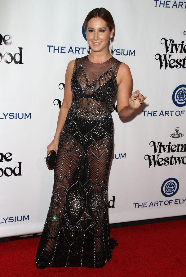 Ashley Tisdale zachwycała w czarnej naked dress? (FOTO)