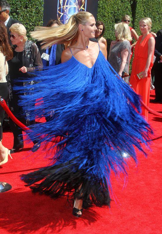 Heidi Klum i jej szałowa sukienka (FOTO)
