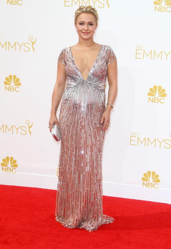 Ciężarna Hayden Panettiere zachwyca w srebrnej sukni! (FOTO)