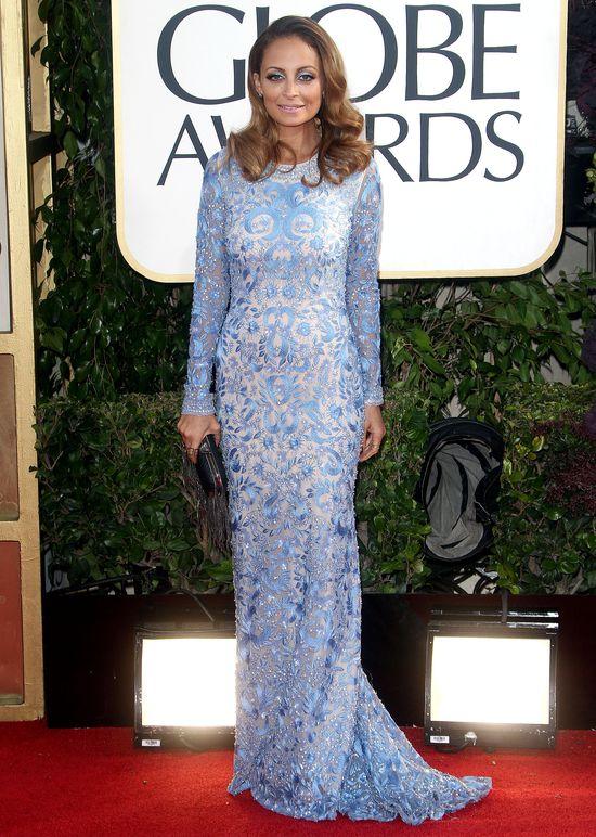 Nicole Richie w błękitnej sukience Naeem Khan