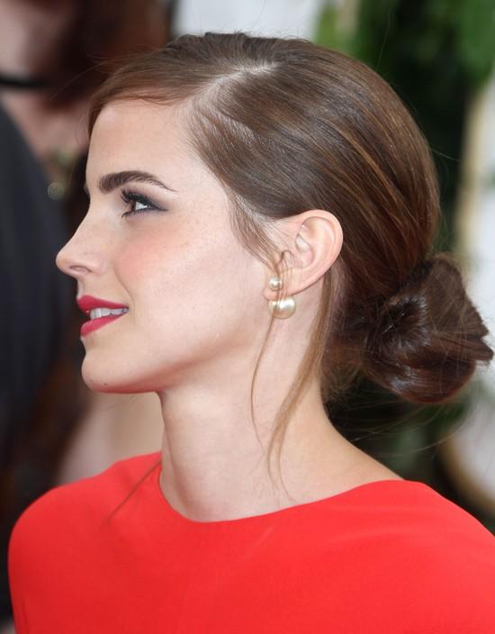 Emma Watson w kreacji Dior - Złote Globy 2014