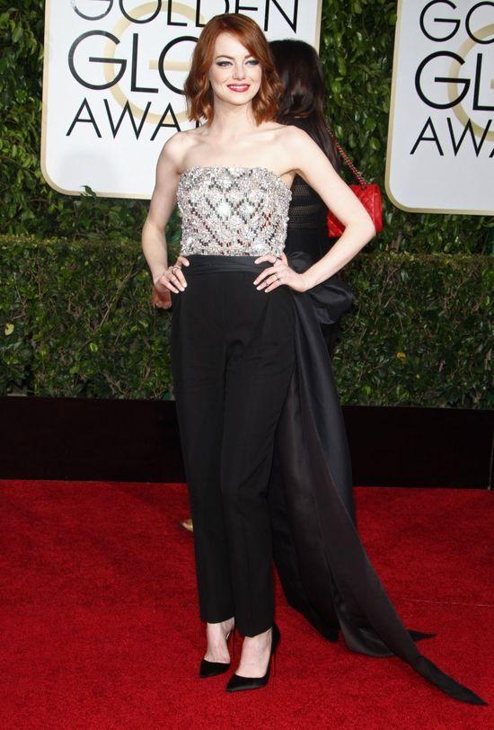 Emma Stone w spodniach na rozdaniu Złotych Globów! (FOTO)
