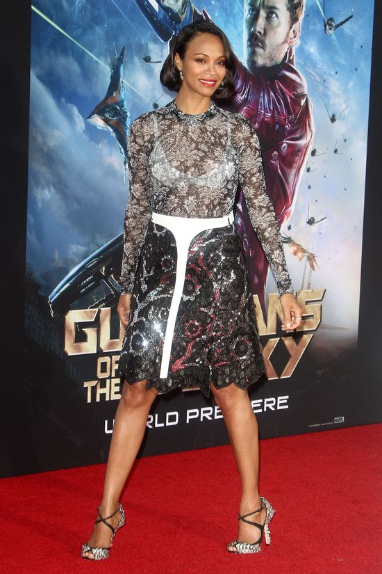 Zoe Saldana w Louis Vuitton i Jimmy Choo (FOTO)