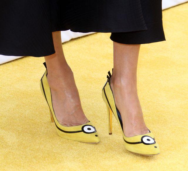 Żółte szpilki Sandry Bullock zrobiły furorę na premierze