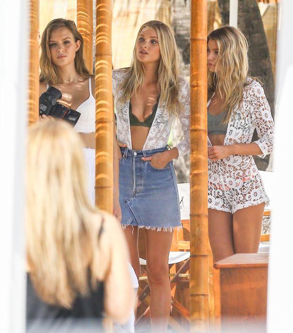 Modelki Victoria's Secret i sesja zdjęciowa dla marki od kulis