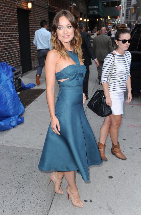 Olivia Wilde w sukienkach J. Mendel i Theyskens' Theory