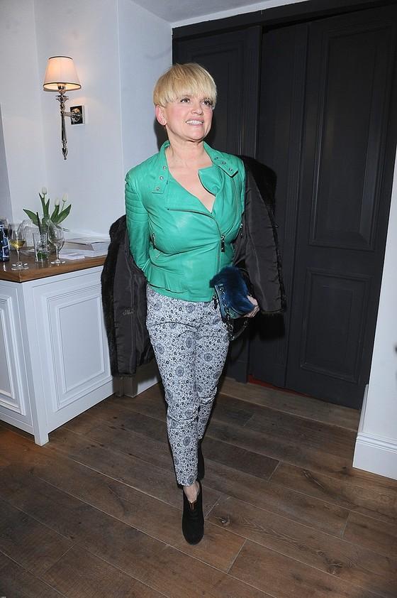 Katarzyna Figura w zielonej kurtce