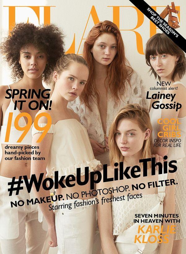 Modelki bez makijażu i Photoshopa dla magazynu Flare (FOTO)
