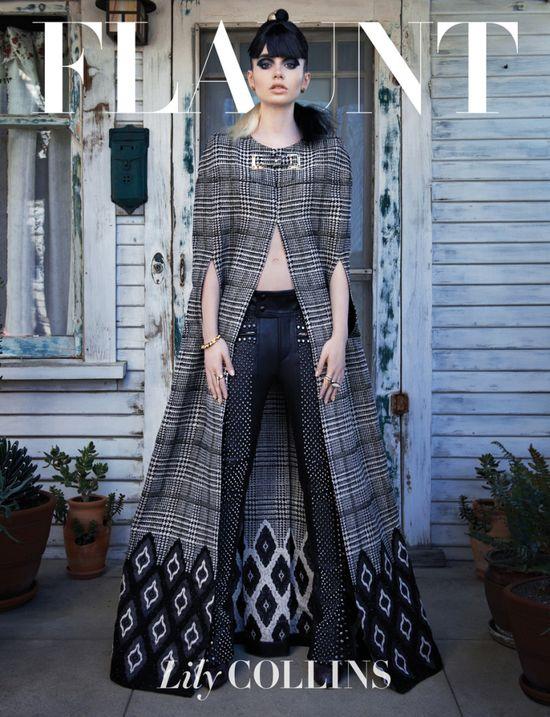 Lily Collins na okładce Flaunt (FOTO)