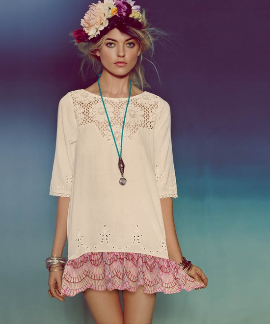 Skąpany w kwiatach lookbook Free People
