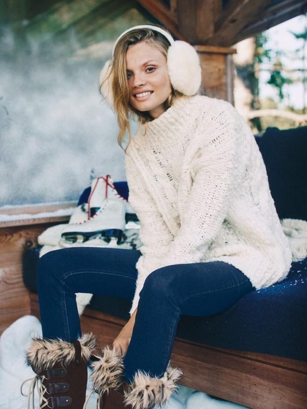 Magdalena Frąckowiak w zimowej kampanii Free People