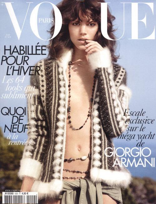 Freja Beha Erichsen w Dior Haute Couture