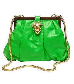 Zielona torba z żabką