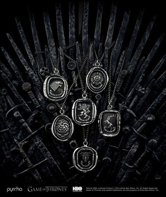 Serial Gra o Tron doczekał się oficjalnej linii biżuterii