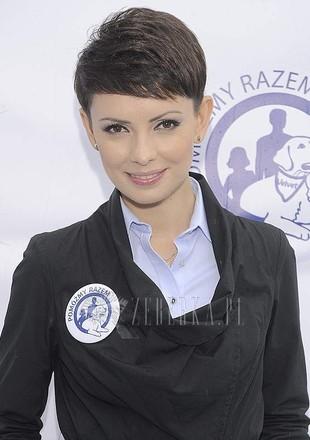 Dorota Gardias w kaloszach
