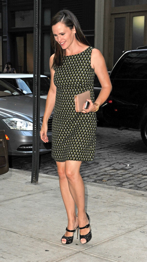 Jennifer Garner w zielonej sukience
